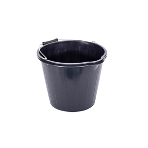 14 LITRE BLACK PLASTIC BUCKET